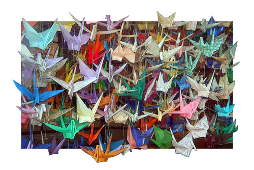 paper cranes:health and hope